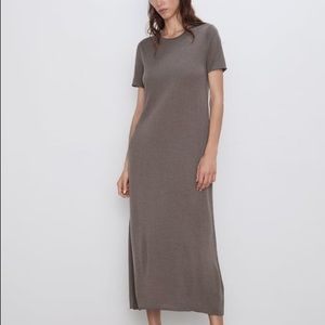 ZARA KHAKI LIGHT KNIT DRESS